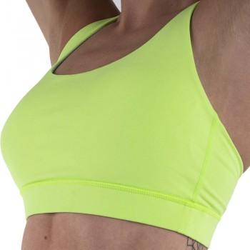 Brassière de sport femme néon vert par rushty