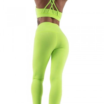 Tenue de sport : Leggings néon vert par rushty France