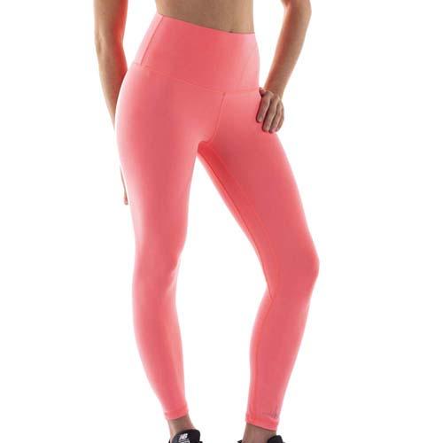 Leggings sport femme néon version peche