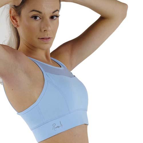 Brassière de sport femme rushty version bleu pastel