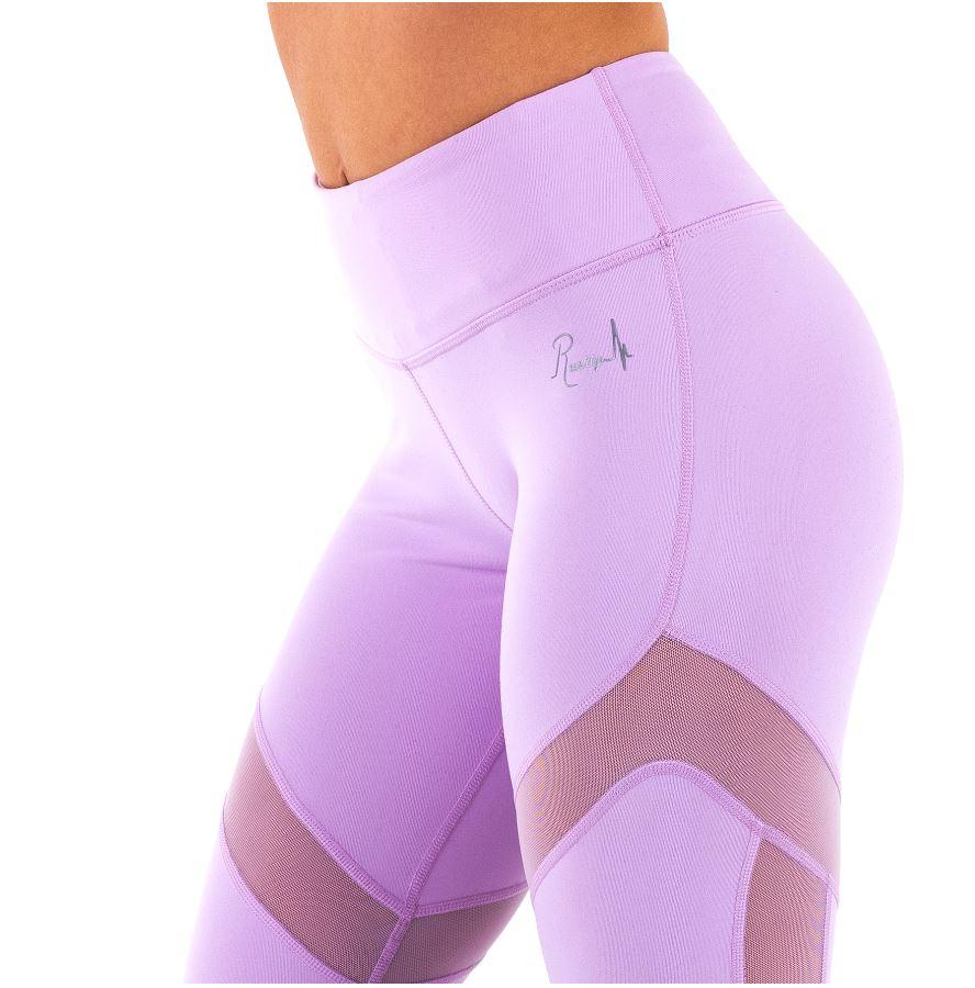 Leggings de sport femme rushty pastel violet
